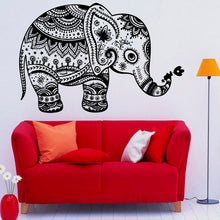 Mandala Indian Elephant Vinyl Wall Sticker Bedroom. FREE SHIPPING