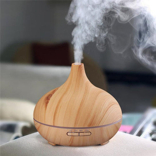 Wood Humidifier Aromatherapy Essential Oil Diffuser Lamp FREE SHIPPING