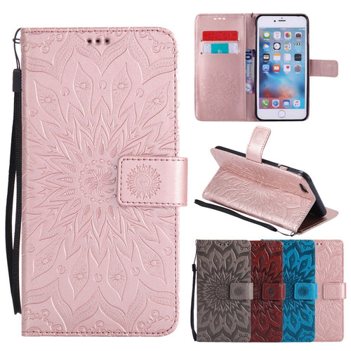 Flip Leather Case For Apple iphone SE 5 5s 6/6s 7 plus  Phone Cases. FREE SHIPPING