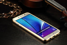 Strong Samsung Galaxy Note 5 Luxury Metal Aluminum Frame + Tempered Glass. FREE SHIPPING