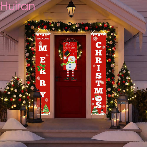 Merry Christmas Porch  Decorative Door Banner