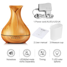 400ml Aroma Essential Oil Diffuser Ultrasonic Air Humidifier electric LED Lights FREE SHIPPING