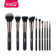 MSQ 10pcs Rose Gold/Balck Professional Makeup Brushes Set Powder Foundation Concealer Cheek Shader Make Up Tools Kit