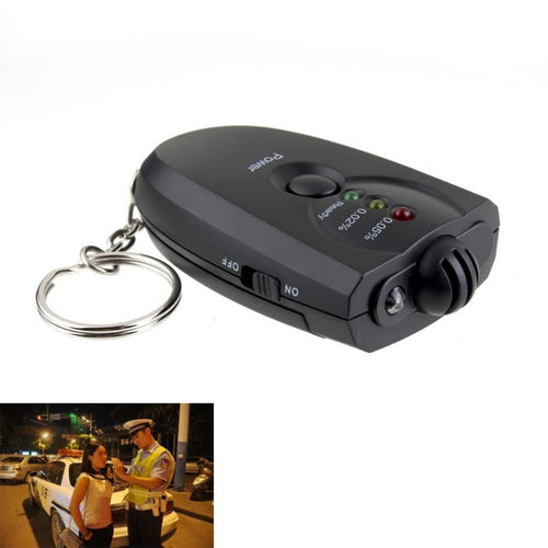 LED Alcohol Breathalyzer Keyring.  You'll never forget it, add it to your car keys.