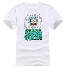 New Rick And Morty Casual Men T-shirts Funny Design Digital Printing 100% Cotton T shirts Top Tees Customized