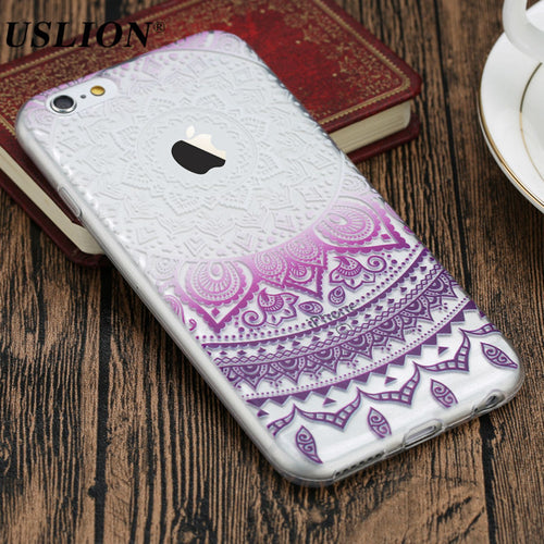 Luxury Retro Mandala Flower Phone Back Case For iPhone 7 6 6s 5 5s SE Plus. FREE SHIPPING