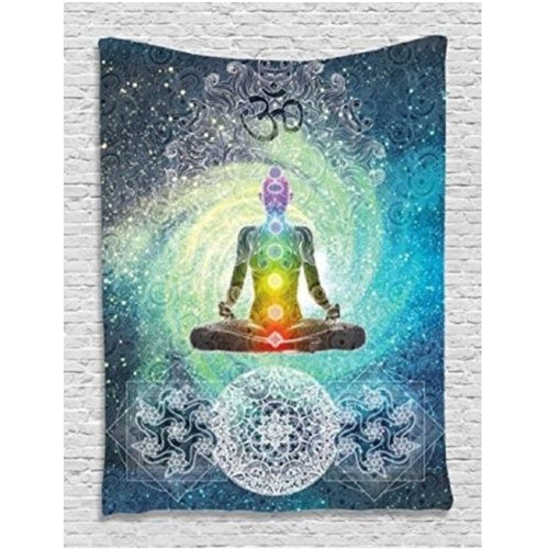 Indian Mandala Wall Hanging Tapestry, Bohemian Bedspread or Yoga Mat 200 x 130cm. FREE SHIPPING