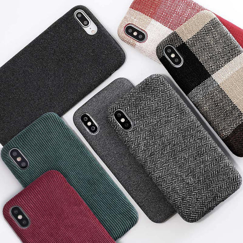 Trendy Cloth Texture Soft case For iPhone 8/Plus,7,6 6s , X Xs max XR
