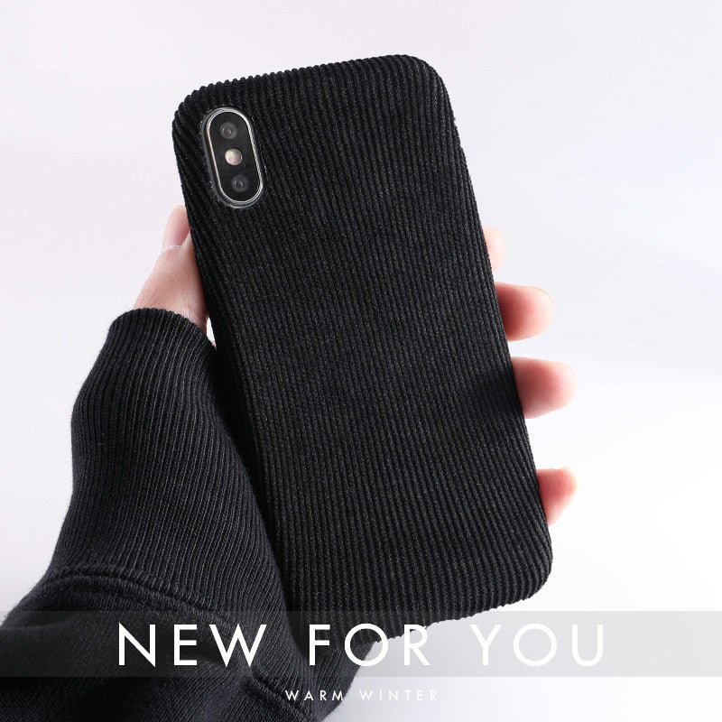 more photos bc4bc 14cb7 Trendy Cloth Texture Soft case For iPhone 8/Plus,7,6 6s , X Xs max XR