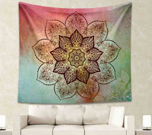 Mandala Tapestry Coloured Elephant Wall Hanging  FREE SHIPPING