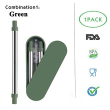Collapsible Stainless Steel Drinking Straw With Keychain Hole for Travel. So easy to carry.