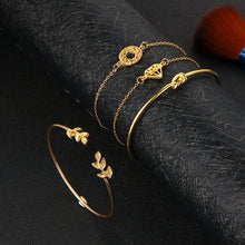 Tocona 4pcs/Set Fashion Bohemia Leaf Knot Hand