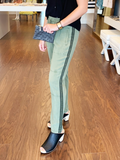 Side Trim High Waisted Pant - Wild Olive