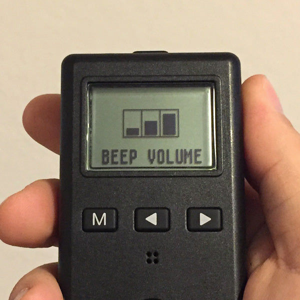Adjustable Beep Volume.