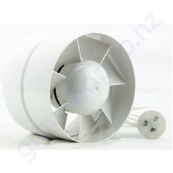100mm Plastic Duct Booster Inline Fan - 130 Cubic Metres Per Hour