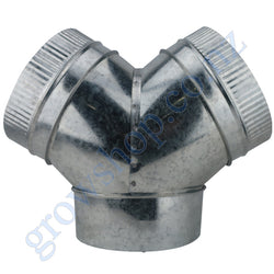 3 way Y Duct Connector 150mm Galv steel
