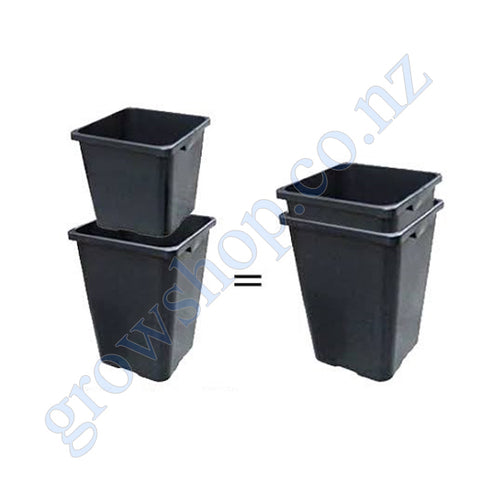 Square Pot in Pot system Inner 18 Litre Pot and Outer 24 Litre Bucket