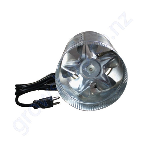100mm Inline Metal Duct Booster Fan - 170 Cubic Metres Per Hour