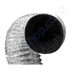 Ducting 200mm x 10 Metres -Black inside Foil outer