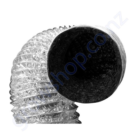 Ducting 125mm x 10 Metres -Black inside Foil outer