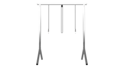 4ft T5 Fixture Stand Stainless Steel