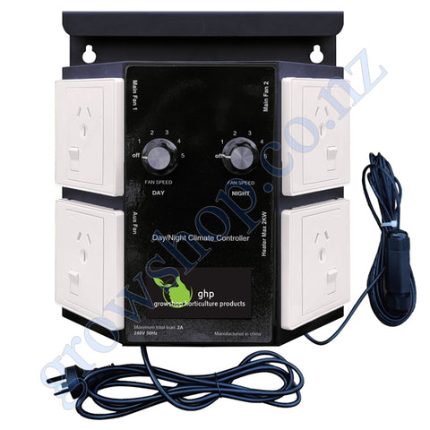 Climate Day - Night Fan Speed Controller c/w Photocell controls 2 Fans, 4 outlets, 2 amp Max Load
