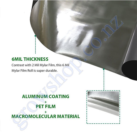 Diamond Silver 7 6 Metre x 1 2 Metre Roll - Highly Reflective Film