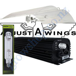 Light Kit 1000w Digi Blackline Ballast, Super Plant HPS Lamp & Large Avenger Adjustawings