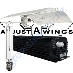 Light Kit 400w Digi Blackline Ballast, Super Plant HPS Lamp & Medium Avenger Adjustawings