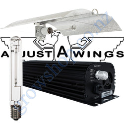 Light Kit 400w Digi Blackline Ballast, Super Plant HPS Lamp & Medium Enforcer Adjustawings