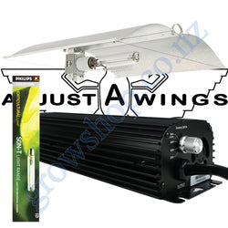 Light Kit 600w Digi Blackline Ballast, Son-T Philips HPS Lamp & Medium Avenger Adjustawings