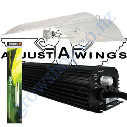 Light Kit 600w Digi Blackline Ballast, Son-T Philips HPS Lamp & Large Avenger Adjustawings