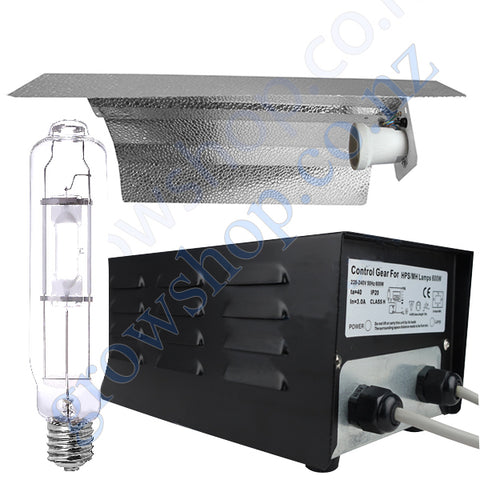 Light Kit 600w Standard Ballast, Metal Halide Lamp & Reflector Wing 470mm x 343mm
