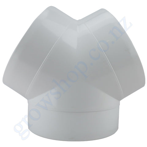 3 way Y Duct Connector 100mm Plastic