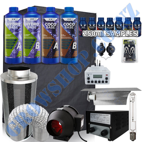 Grow Tent Starter Budget Kit 1.2 Metre - 600w Light Set - 125mm Fan & Carbon