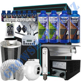 Grow Tent Starter Kit 1.4 Metre - 600w Light Set - 150mm Fan & Carbon