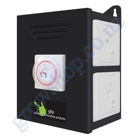 Timer Box 4 Outlet - Heavy Duty Timer and 4 Outlets