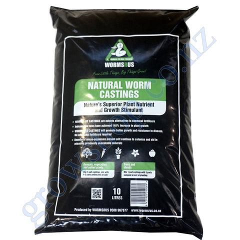 Organagro Gold Worm Castings 100% Natural 10 Litre Bag