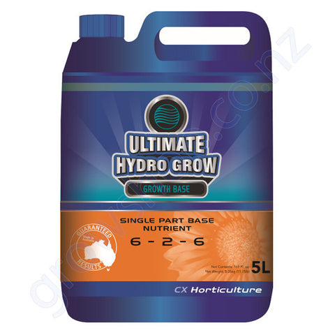 Ultimate Hydro Grow CX 5 Litre Single Part