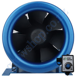 250mm EC Mixed Flow Fan c/w Speed controller - 1808 Cubic Metres Per Hour