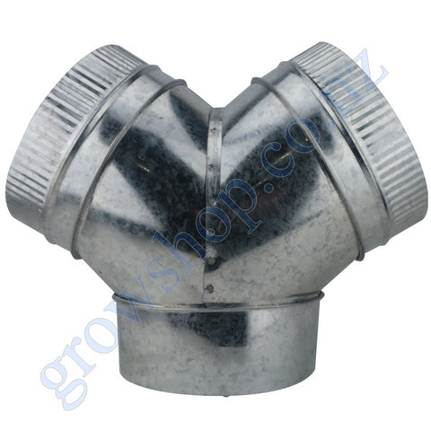 3 way Y Duct Connector 315mm Galv steel