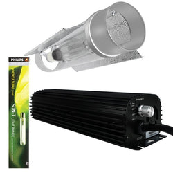 Light Kit 600w Digital Blackline Ballast, 600w Son-T Philips HPS Lamp & Cool Tube 150mm x 690mm c/w Reflector