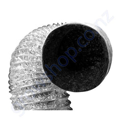 Ducting 150mm x 10 Metres -Black inside Foil outer
