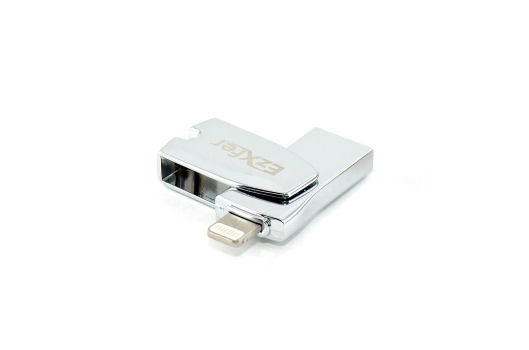 EzXfer - MFi Certified OTG USB Flash drive with Lightning Connector for Apple Devices