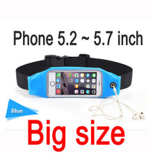 Gym Waterproof Waist Bag & Universal Phone Case Pouch For iPhone 6 Plus Samsung Galaxy J5 S7 S6 S5 A3