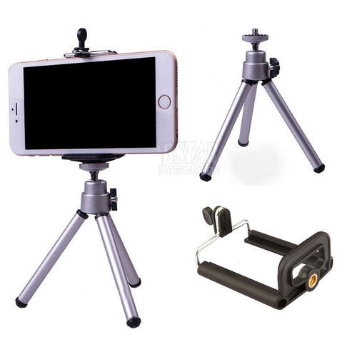 Tripod & Clip Stand Bracket Holder Mount Adapter For Self-Timer Smartphones For iPhones