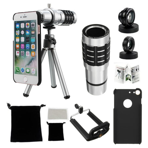 High Performance Telephoto Telescope Lens  For iPhone 7 Plus With 2 in 1 Macro and Wide Angle Lens