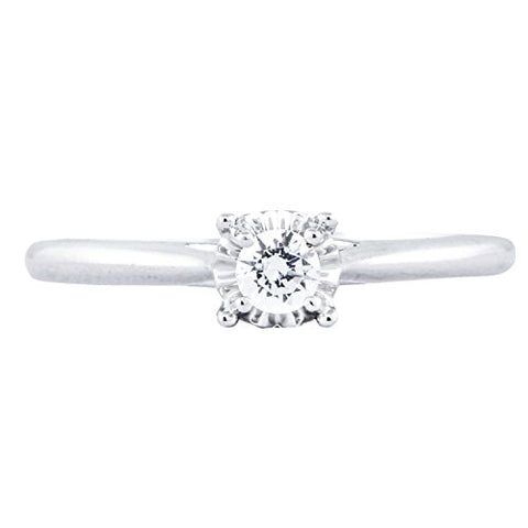 1/5 Carat T.W. Diamond 10kt White gold Solitaire Ring