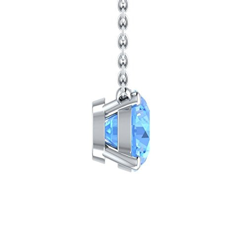 Elegant 0.38 Cttw Created Topaz /& White Sapphire Pendant Necklace In 14K Yellow Gold Plated