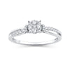 EternalDia 0.26 Cttw Diamond Split Shank Style Promise Ring In 10k White Gold - EternalDia